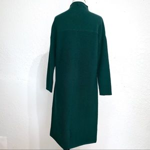 yulinge Dresses - NWT Yulinge Dark Green Ribbed Sweat Midi Dress